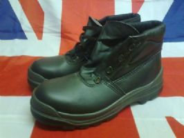 ARMY MILITARY GLOBE TROTTERS BLACK BOOTS STEEL TOE CAPPED